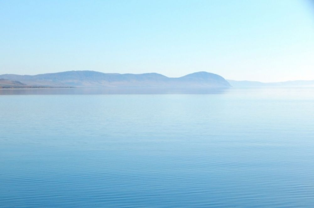 Вид на левый берег (Красноярское водохранилище)