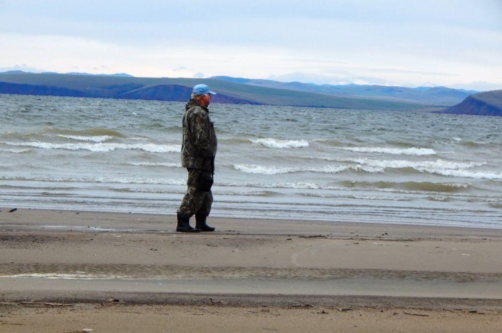 Пляж в сентябре (Красноярское водохранилище)