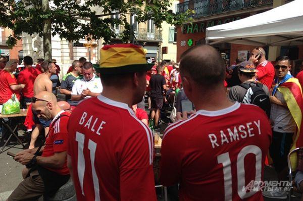 Со стороны болельщиков сборной Уэльса не было никакой агрессии. При встрече с россиянами они желали удачи и выражали надежду на красивую игру с большим количеством голов.