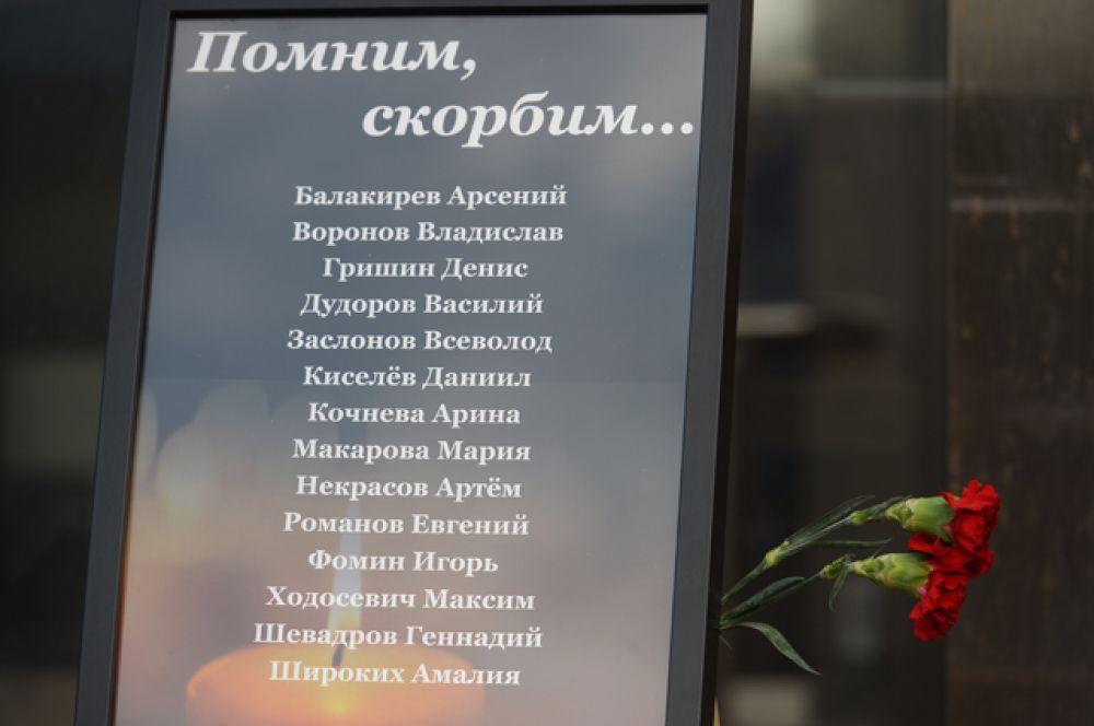 Фамилии и имена погибших детей на Сямозере в Карелии.