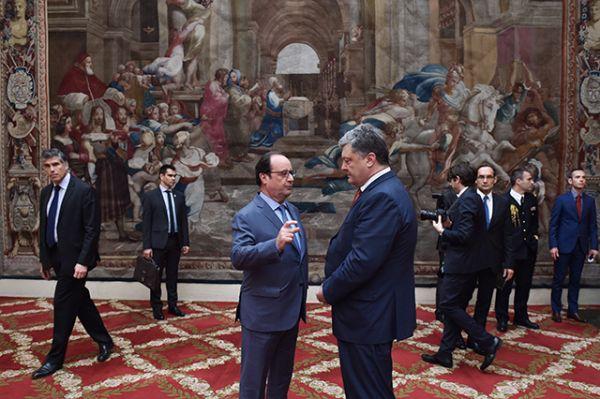Встреча двух лидеров стран проходила в Елисейском дворце
