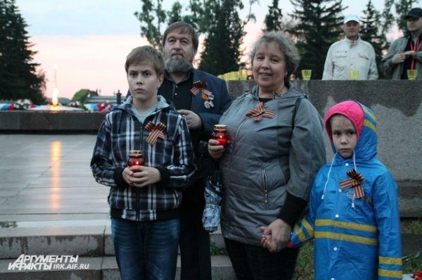 Иркутяне пришли целыми семьями.