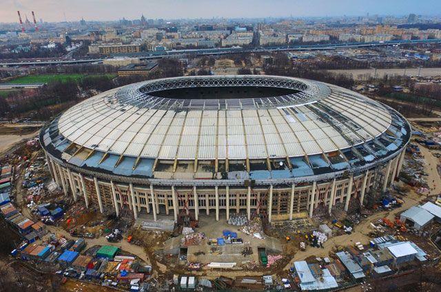 Реконструкция Большой спортивной арены «Лужники» вМоскве.