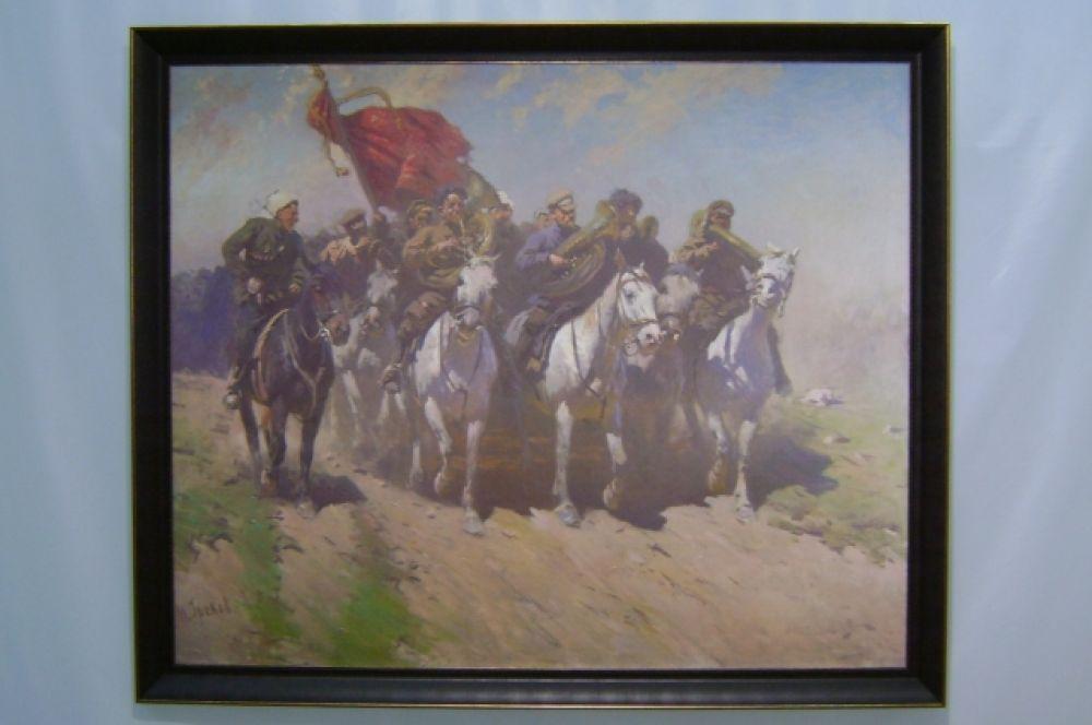 Вот «Трубачи Первой конной армии» Митрофана Грекова.