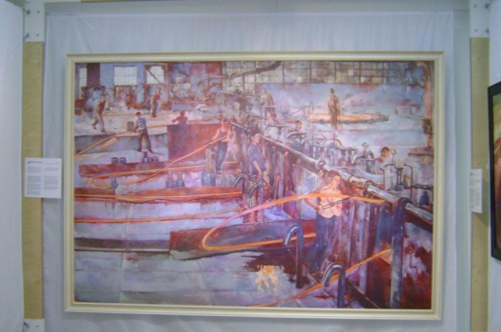 «Горчепрокатный цех гвоздильного завода» художника Семёна Павлова