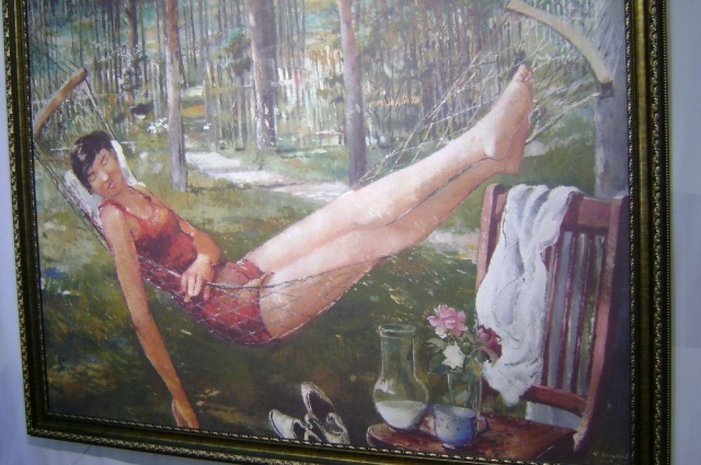 «Женщина в гамаке» Юрия Пименова.