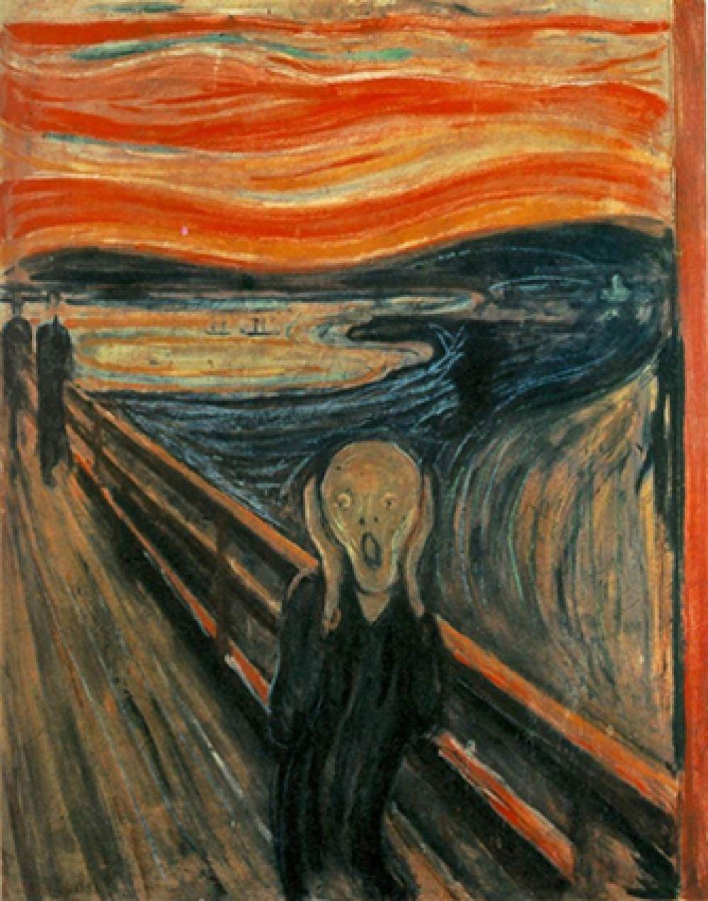 Далее следует «Крик» (4-я картина серии) Эдварда Мунка. Её цена продажи составила 119,9 млн долларов.