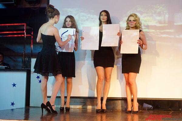 Кроме того, участницы отвечали на вопросы, посвященные кинематографу – ещё одной теме конкурса.