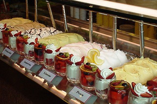 Торты фруктовые с мороженым