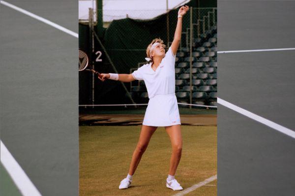 Теннисистка Анна Уайт на чемпионате Уимблдон 1986 года.