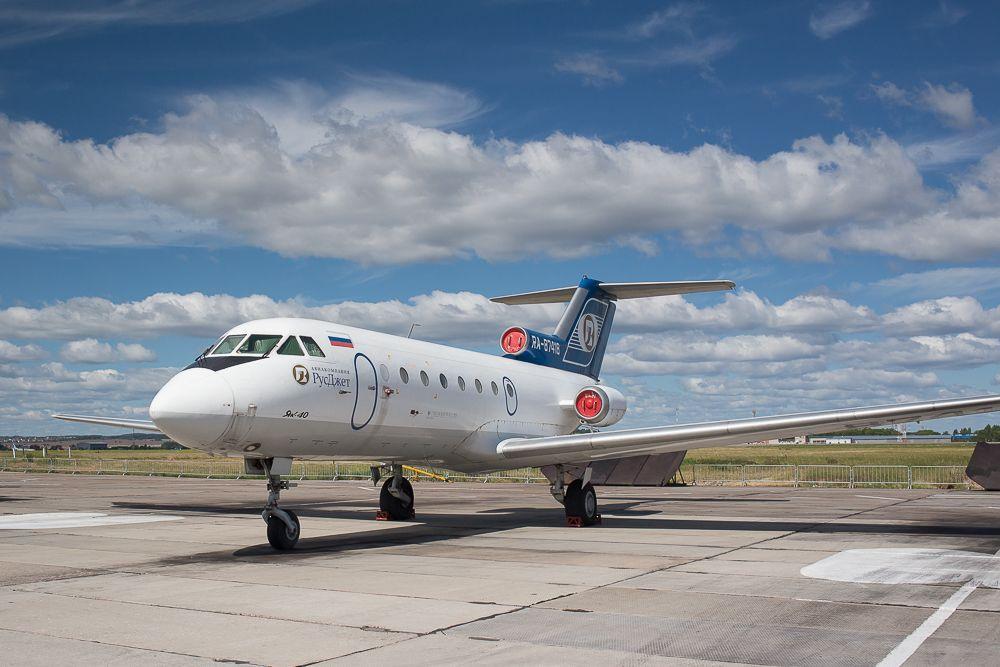 Самолет Як-40, бессменный участник «Крыльев Пармы» на протяжении нескольких лет.