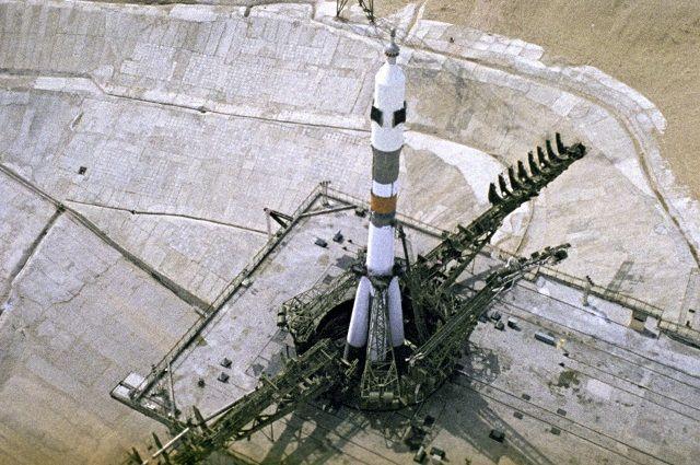 «Союз-11» на стартовой площадке.