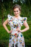 Летнее платье в цветочек.