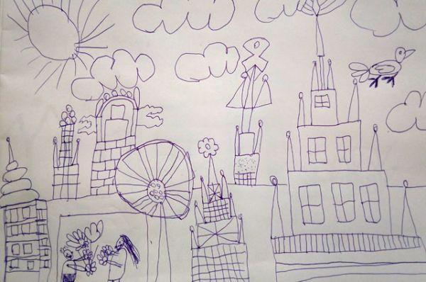 Участник №5. Большаков Артем, 7 лет. «Новый город чудес»