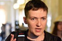 Депутат Верховной рады Украины Надежда Савченко после заседания рады.