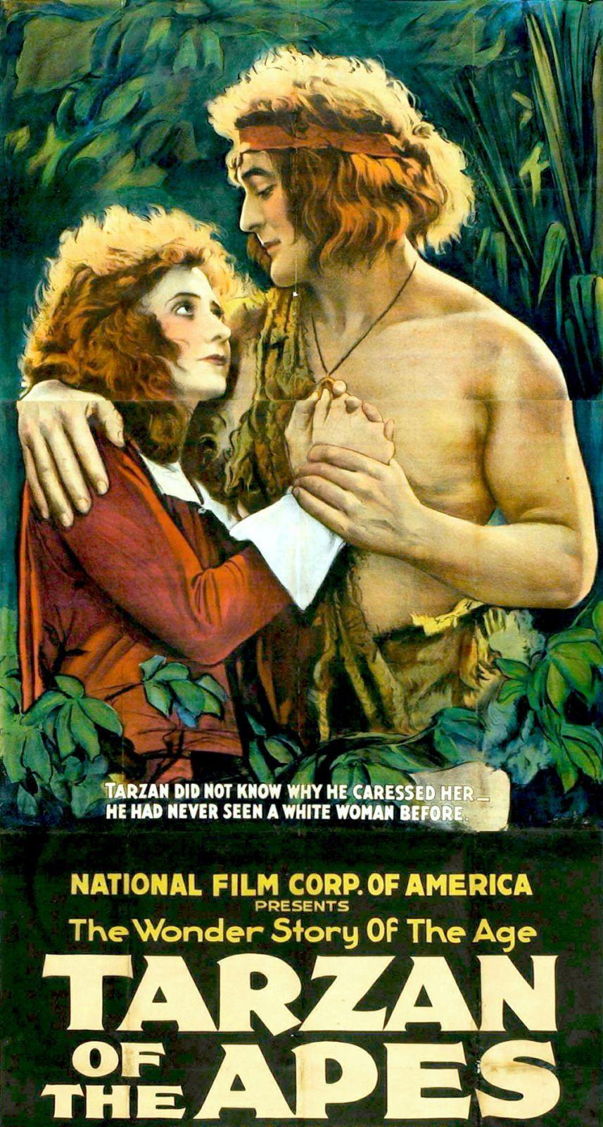 Первым образ Тарзана на большом экране воплотил Элмо Линкольн в немом фильме 1918 года «Тарзан, приёмыш обезьян».