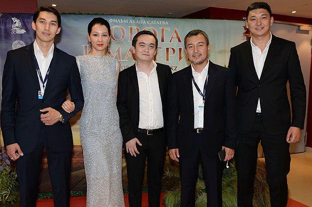 Фильмогруппа фильма «Дорога к матери» на показе фильма в рамках 38-го Московского международного кинофестиваля.