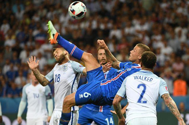 Евро-2016. Матч между сборными Исландии и Англиии.