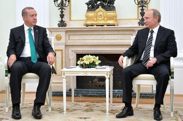 Путин и Эрдоган встретятся в начале 2017 года