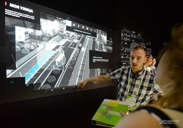 «Москва в цифрах» – наглядная база данных о столице. Вращая город во всех плоскостях можно узнать, например, протяженность электрических сетей города или мощность его электростанций.