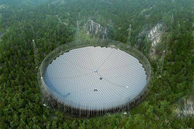 ВКитайской народной республике закончено строительство крупнейшего вмире радиотелескопа