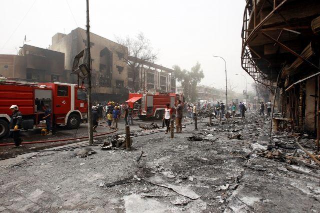 Ответственность завзрывы вБагдаде взяла насебя запрещенная в Российской Федерации  ИГИЛ