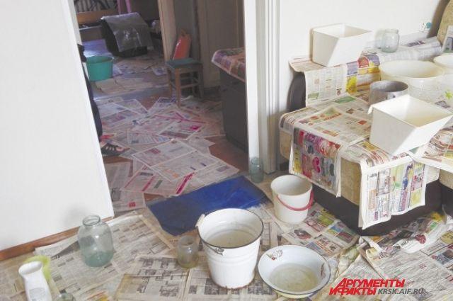 В квартире ветерана постоянно капает с потолка.