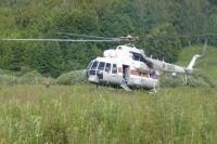 Сегодня на поиски вылетел вертолет.