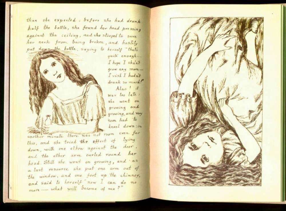 Исторически первым иллюстратором книги был сам Кэрролл. Первую рукопись «Приключения Алисы под землёй» (1864) он снабдил 38 собственными рисунками.