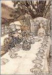 В 1907 году права на исключительную публикацию книги истекли, и 12 различных художников создали свои версии иллюстраций. Наиболее замечательными и довольно часто переиздаваемыми из них являются 20 иллюстраций, выполненных Артуром Рэкхемом. Они же являются первыми цветными иллюстрациями к книге.