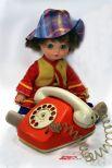 Кукла литовец и телефон