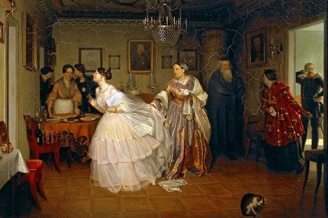 Павел Федотов, «Сватовство майора» (1848), Третьяковская галерея