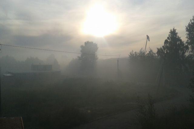 В районе тлеющего короотвала превышен уровень загрязняющих веществ.
