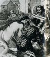 Во Франции нравы были куда свободнее. Для мужчин там появляется специальный полосатый обтягивающий костюм.