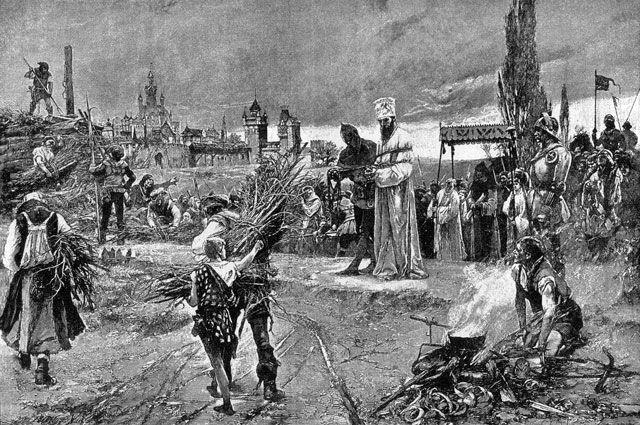 Приготовления к казни Яна Гуса.