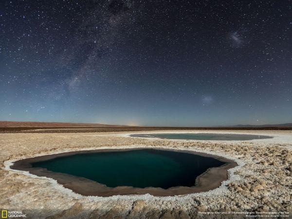 Victor Lima со снимком водяных источников в ночной пустыне занял третье место в категории
