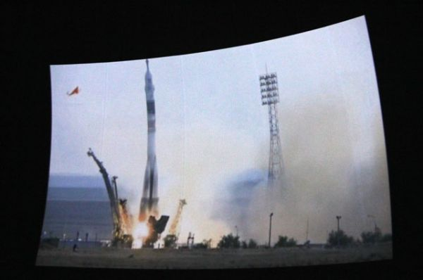 Момент запуска ракеты с кораблём. Трансляция.