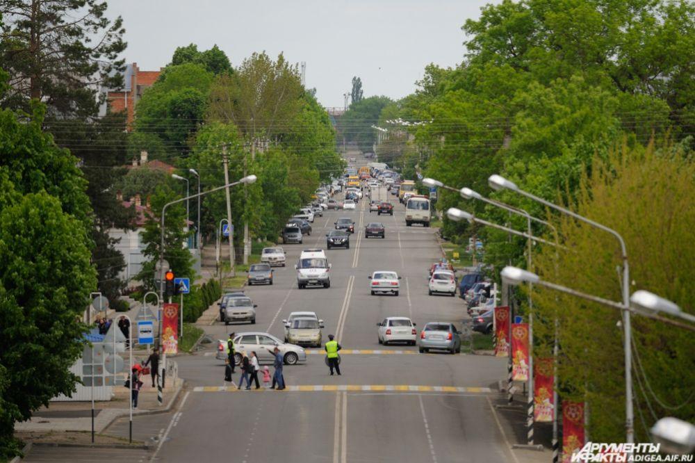 Вид на улицу Пушкина.
