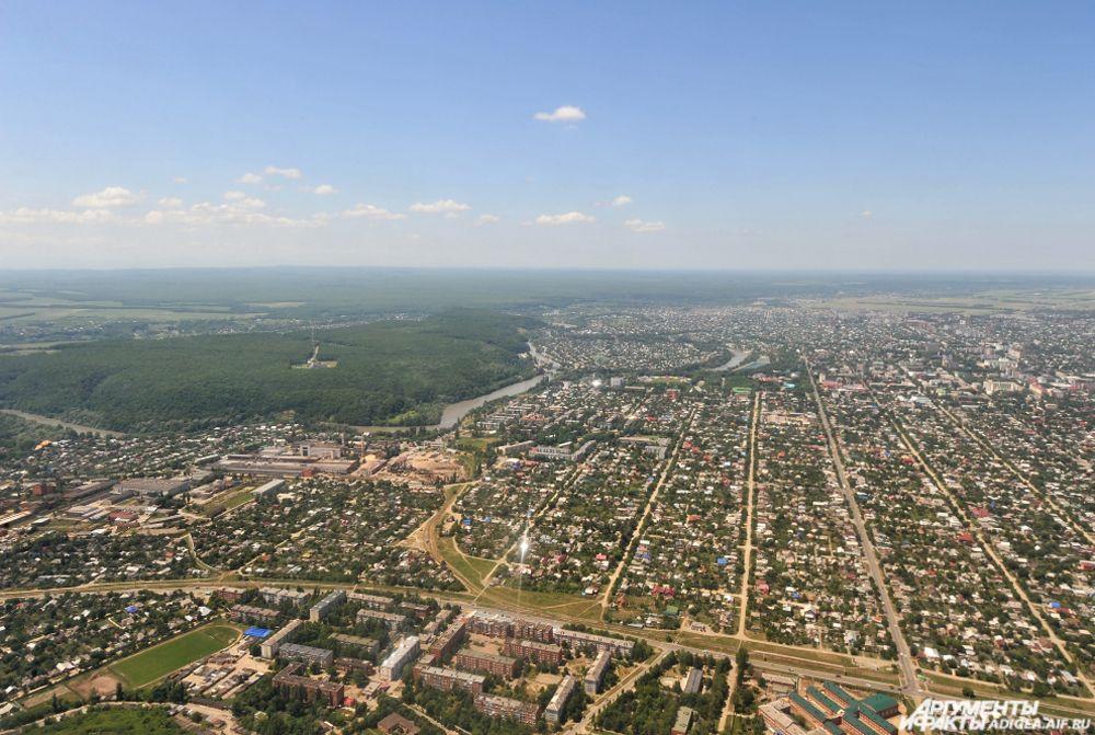 Панорама города Майкопа.
