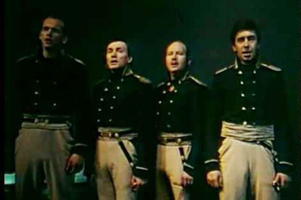 Морские офицеры — Владимир Белоусов, Роман Овчинников, Владимир Кузнецов, Сергей Греков.