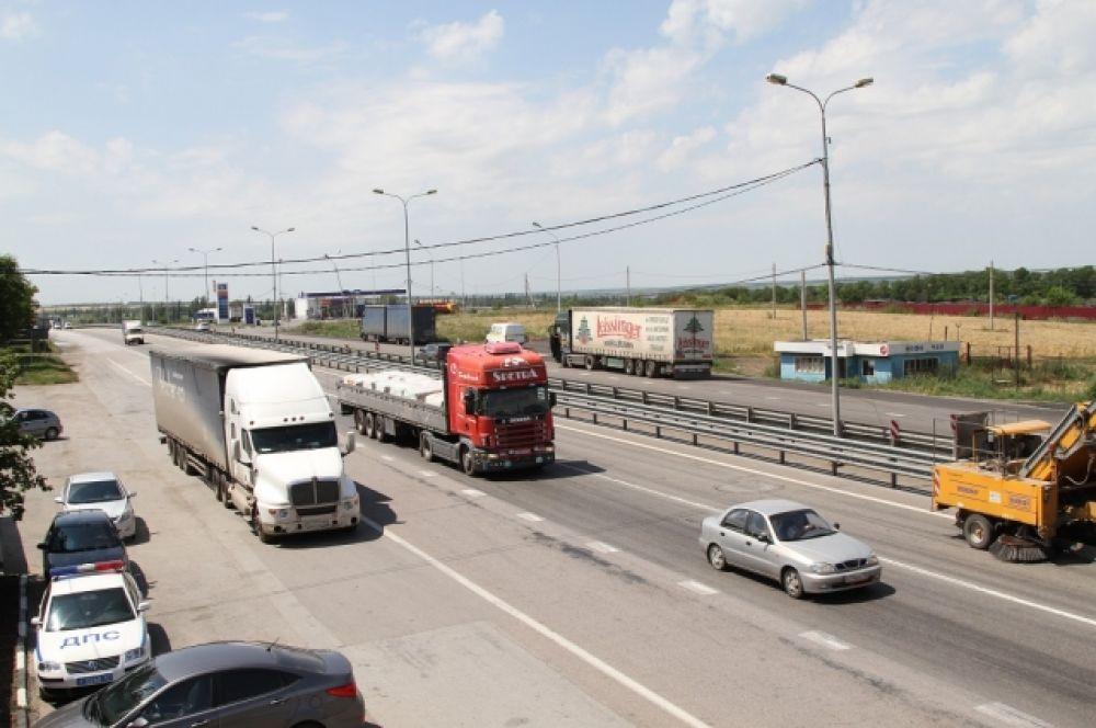 Её организовали на участке автодороги, через который ежедневно  проходят около 50 тысяч автомобилей.