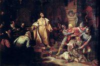 «Иван III свергает татарское иго, разорвав изображение хана и приказав умертвить послов» (1862), Н. Шустов © / Commons.wikimedia.org