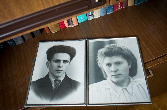 Супруги Ганькины 60 лет назад.