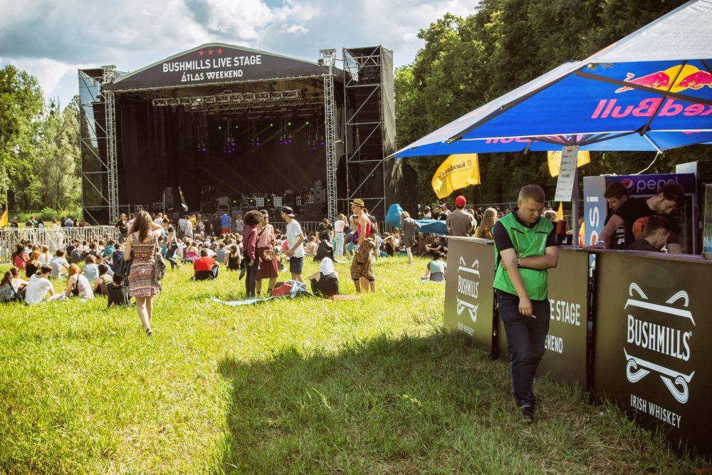 На фестивале было 5 сцен, на которых должны были выступать очень популярные группы и исполнители