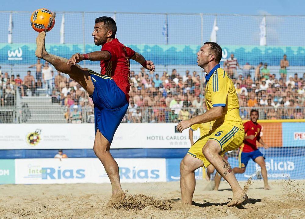 В отборочном этапе, сборной Украины попалась сборная Испании