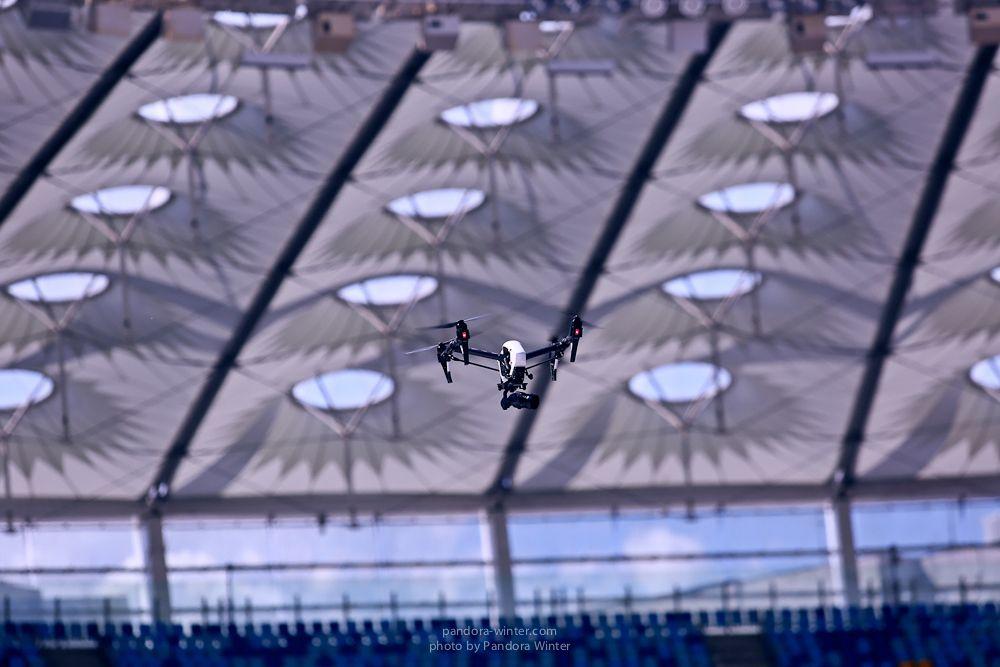 Беспилотник кружил в «Олимпийском»