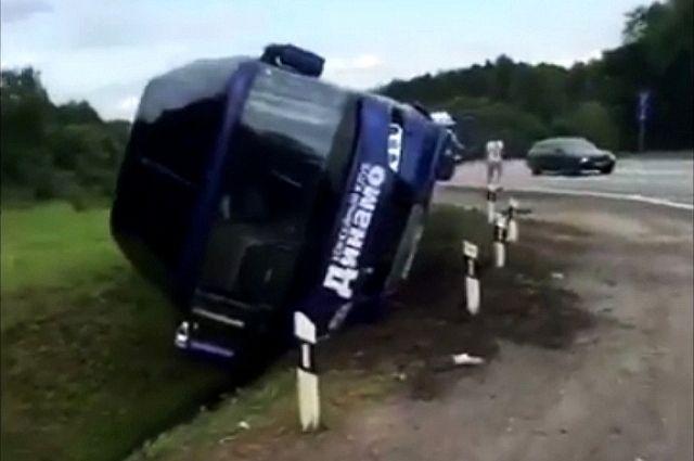 Никто из находившихся в автобусе людей не пострадал.