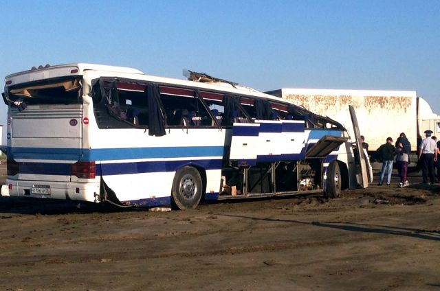 ВДагестане после ДТП савтобусом возбудили дело против водителя КамАЗа