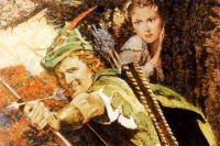 Робин Гуд— популярный герой средневековых английских народных баллад, благородный предводитель лесных разбойников.