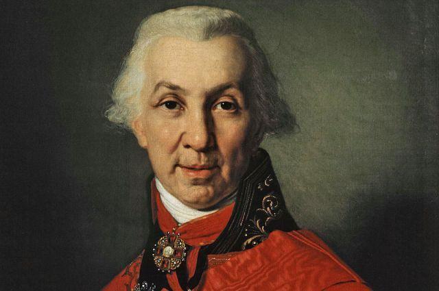 Портрет Державина работы художника Боровиковского.